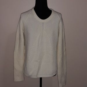 Cynthia Rowley Cream Twist Knit Sweater XL